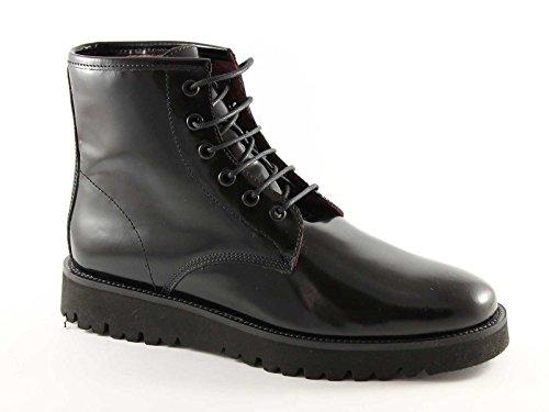 FRAU 86R6 nero scarpe donna mid scarponcini stivaletti pelle