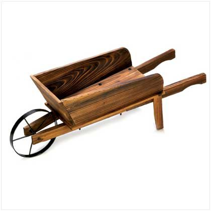 Gifts & Decor Country Flower Cart Rustic Planter Fir Wood Plant Stand