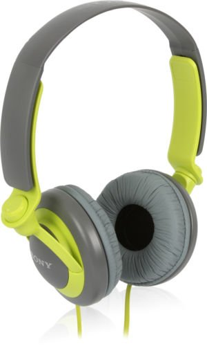 New Sony Mdr-Xb200 Green Extra Padded On-Ear Stereo Headphones Xb Series Extra Bass!