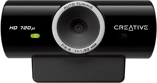 Creative Live! Cam Sync HD (720p-HD-Videoaufzeichnung, integriertes Mikrofon, integrierte Überwachungssoftware, Kennwortschutz)