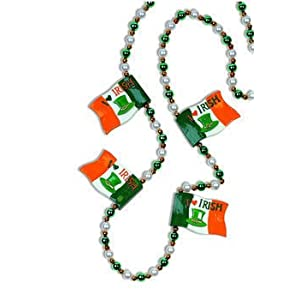 St. Patrick's Day - Irish Flag Bead Necklace Accessory