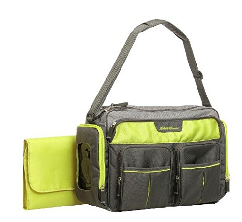 Eddie Bauer Easy Access Duffle Diaper Bag - Black/Lime - 1
