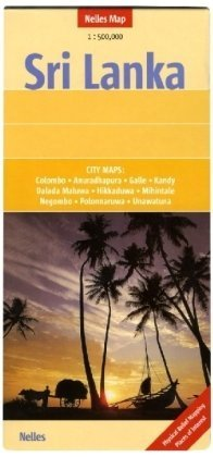 Sri Lanka Map by Nelles (Nelles Maps) (English, French and German Edition)