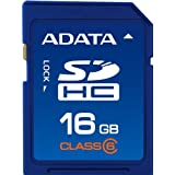 ADATA 16GB Class 6 SDHC Flash Memory Card ASDH16GCL6-R ~ A-Data USA