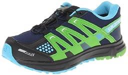 Salomon XR Mission CSWP J Hiking Shoe (Little Kid/Big Kid),Lake/Light Green-X/Flou Blue,2 M US Little Kid