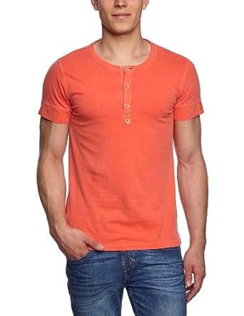 ESPRIT Herren T-Shirt Slim Fit 043EE2K027, Gr. 39/40 (M), Orange (622 peach red)