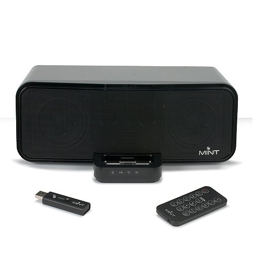 Mint 130 Wireless Speaker For Ipod, Mp3 Players, Pcs, And Mac (Black)