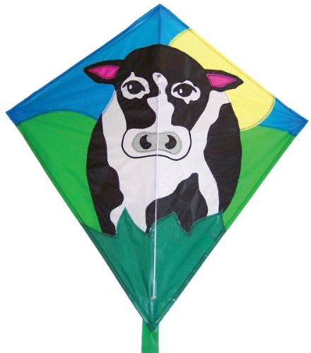 In the Breeze Cow Diamond Kite, 28-Inch