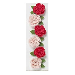 Martha Stewart Crafts Dimensional Felt Rose Stickers
