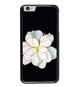 Fuson Premium 2D Back Case Cover White floral With black Background Degined For Apple iPhone 6 Plus