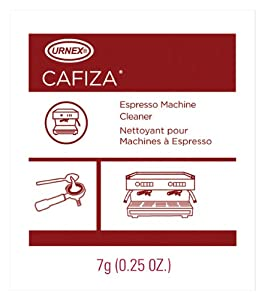 Urnex Cafiza Espresso Machine Cleaning Powder, 100 1/4 oz Packets from Urnex