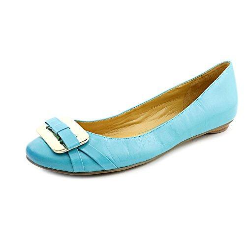 Nine West Rueben Womens Size 7 Blue Leather Flats Shoes