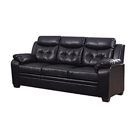 Tufted Faux Leather Sofa