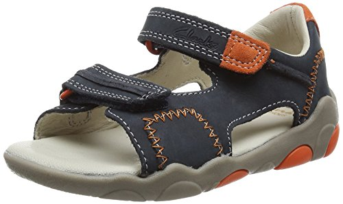 Clarks - Softly Bay Fst, Sneakers per bimbi, blu (navy leather), 20