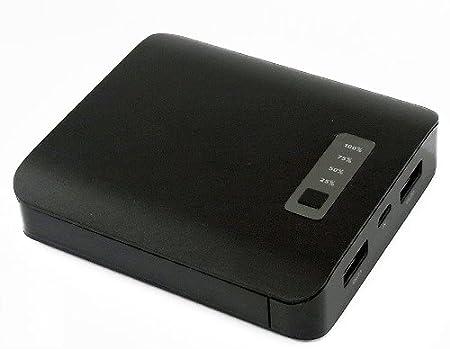【Amazon.co.jp限定】smart ways モバイルバッテリー 10000mAh 2USBポート ブラック SW-MB06-BK