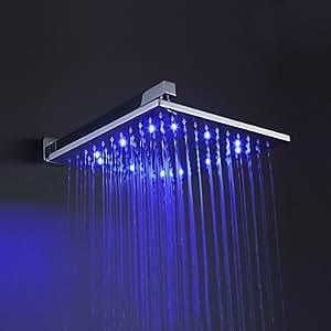 12 pouces la tête de douche en laiton avec des couleurs de lumière LED changeant