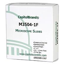 CapitolBrand Microscope Slides, Standard Grade