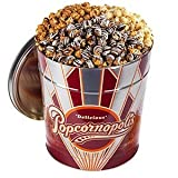 Popcornopolis Favorites Gift Tin 3.5 Gallons of Popcorn Caramel, Kettle & Zebra