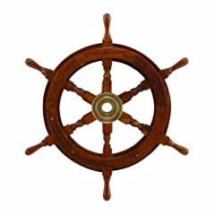 15 Wooden Ship Wheel: Nautical Boat Decoration
