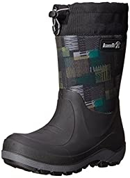 Kamik Stormin 2 Jaywalk 3 Season Neoprene Boot (Toddler), Black/Green, 10 M US Toddler