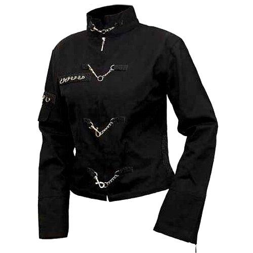 Spiral Gothic Jacke Orient Goth, elegante und ausgefallene Damen Übergangsjacke, schwarz jetzt bestellen