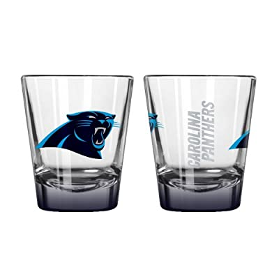 NFL Carolina Panthers Elite Shot Glass Set (2-Pack), 2-Ounce