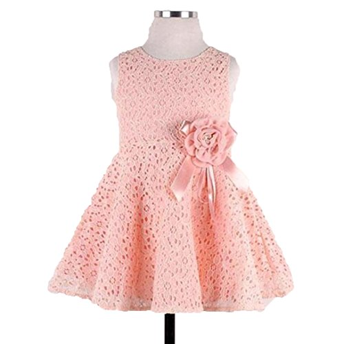 Usstore Girls Kids Clothing Lace Floral One Piece Princess Party Dress (120cm-4-6Y) (Dress Maker Pant Forms compare prices)