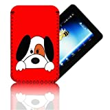 Biz-E-Bee Exclusive 'CUT DOG 7' Red ARCHOS 70 (70b) INTERNET (ARNOVA 7, 7B, 7F, G2 & G3) Shock Shock Resistant 7 Inch Neoprene Tablet Case, Cover, Pouch