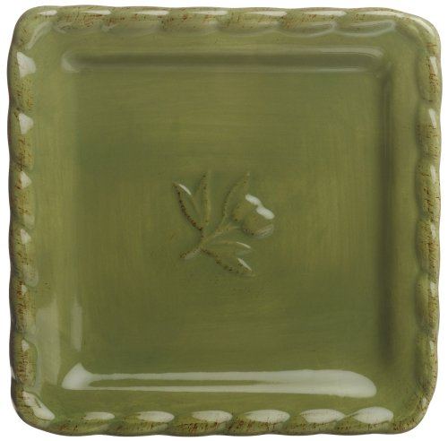 Buy Signature Housewares Napa Entertaining 6-Inch Square Plates, Green, Set of 6