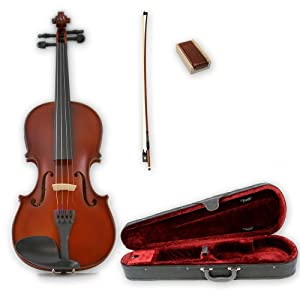 The Instrument Store TIS-200 Student Violin Full Size (4/4) with Ebony Fittings, Case and Bow