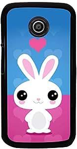 PrintVisa Cartoon Rabbit Back Cover for Motorola Moto E XT1021