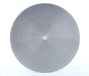 Drilax 6 inch Grit 150 Professional Quality High Density Diamond Coated Flat Lap Lapping Lapidary Wheel Disc Glass Jewelry Polishing Tool Grinding Sharpening Metal Back 1/2 Arbor (Grit150) (Tamaño: GRIT0150)