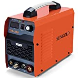 SUNGOLDPOWER 200Amp TIG ARC MMA Stick IGBT DC Inverter Welder System Digital LED Display Welding Machine 110V and 220V With HF Start Complete Package (Tamaño: TIG welder)