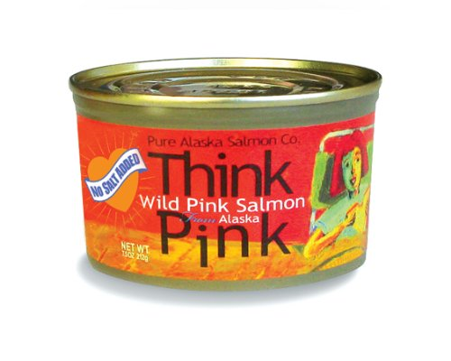 No Salt Added Thinkpink Wild Alaska Pink Salmon (12) 7.5oz Cans