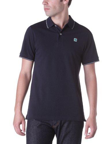 G Star Cl Stripe Slim Short Sleeve Polo Men's T-Shirt Python Large