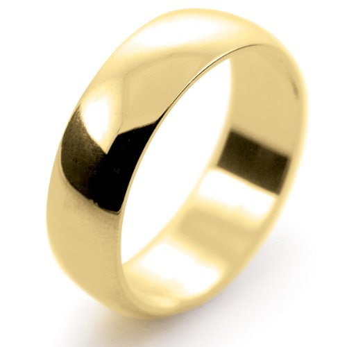 18ct Yellow Gold 6mm Standard D Profile Wedding Ring Womens Sizes L to Q - 3.8 grams 30 Day Moneyback Guarantee & FREE Delivery