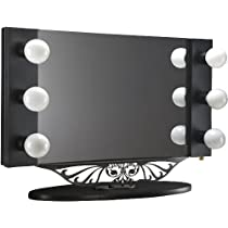 Starlet Table Top Lighted Vanity Mirror - Black