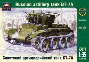 ARK35026 Ark Models 1:35 - Russian artillery tank BT-7A plastic model kit