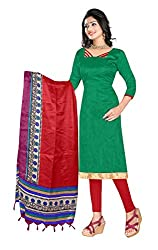 RK Exports Green Dress Material