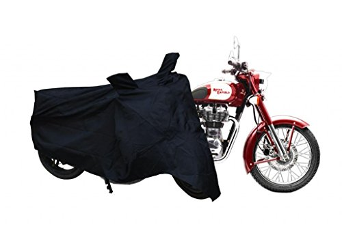 Leebo Premium Quality Bike Cover for Royal Enfield Classic 350 (Black)