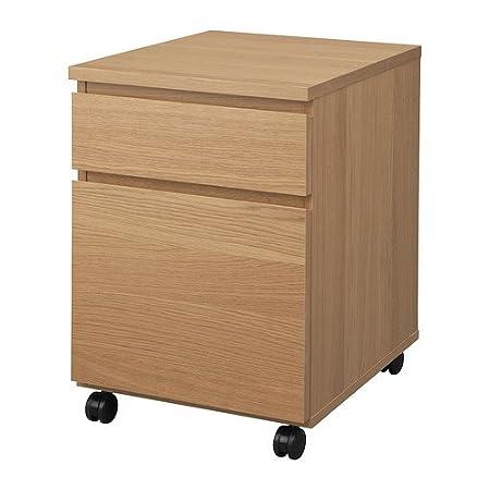 IKEA MALM - unidad de cajón con ruedas, efecto roble - 42x51 cm