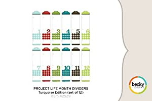 Project Life Month Dividers - Turquoise Edition