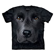 The Mountain Black Lab Face T-Shirt Large