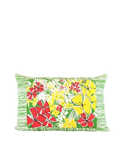 Jacque Pierro French Meadows Country Large Pillow, Red/Yellow/Green/White