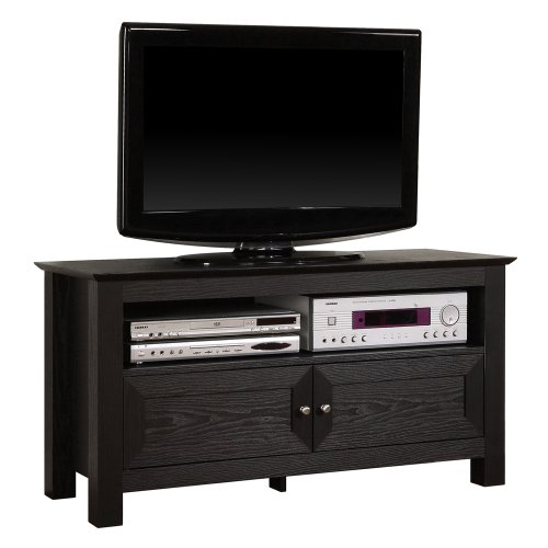 Walker Edison 44-Inch Wood Tv Stand Console, Black