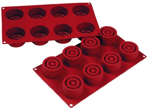 Fat Daddios Pastry Mould - Swirled Cylinder - 2-3/8