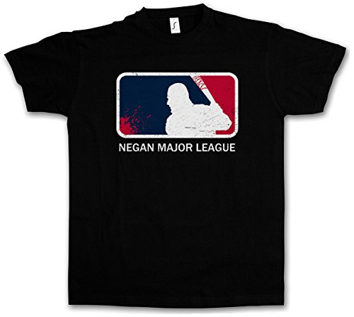 "NEGAN MAJOR LEAGUE ""J"" T-SHIRT - Walking The Lucille Baseball Bat Dead Rick Carl Zombie Grimes Biters Barbwire Taglie S - 5XL"