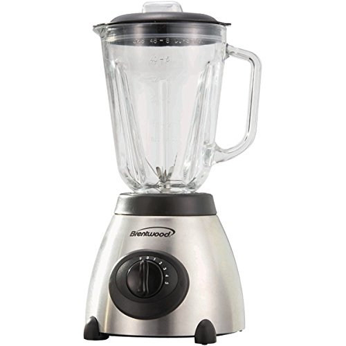 BTWJB800 - BRENTWOOD JB-800 5-Speed Blender with Stainless Steel Base amp; Glass Jar