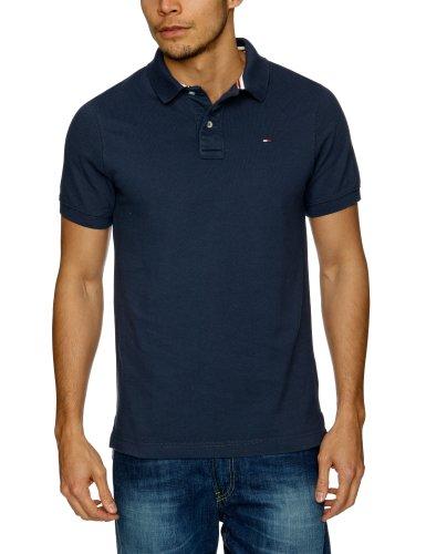 Tommy Hilfiger Pilot Polo Flag Shortsleeve 480 Polo Men's T-Shirt Mood Indigo Small