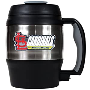MLB St. Louis Cardinals 52-Ounce Stainless Steel Macho Travel Mug with Bottle Opener by Great American Products
